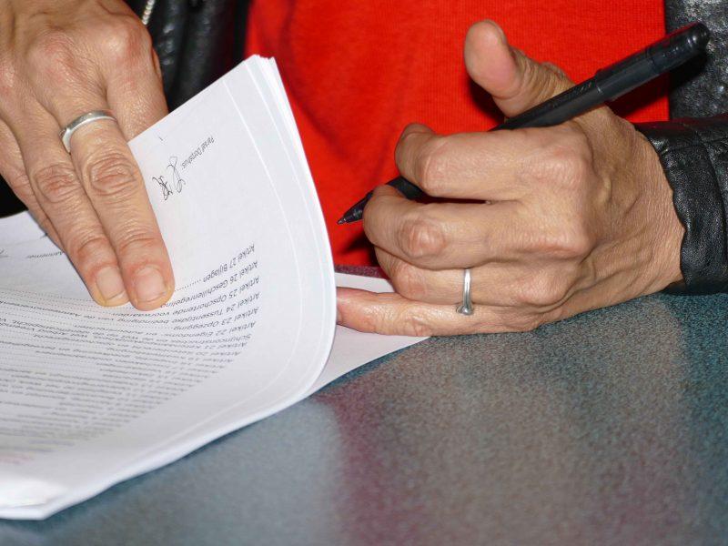 Aannemingsovereenkomst getekend